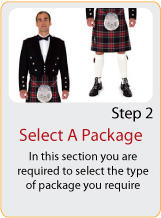 select a kilt package